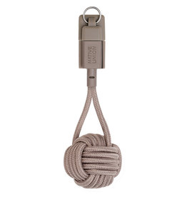 Native Union 2 in 1 Lightning Cable and Key Ring - Taupe