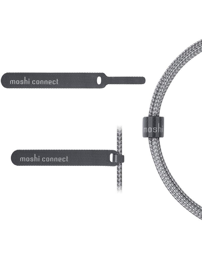 Moshi Câble Lightning vers auxiliaire 3.5mm - 4 Pieds (1.2m) - Gris