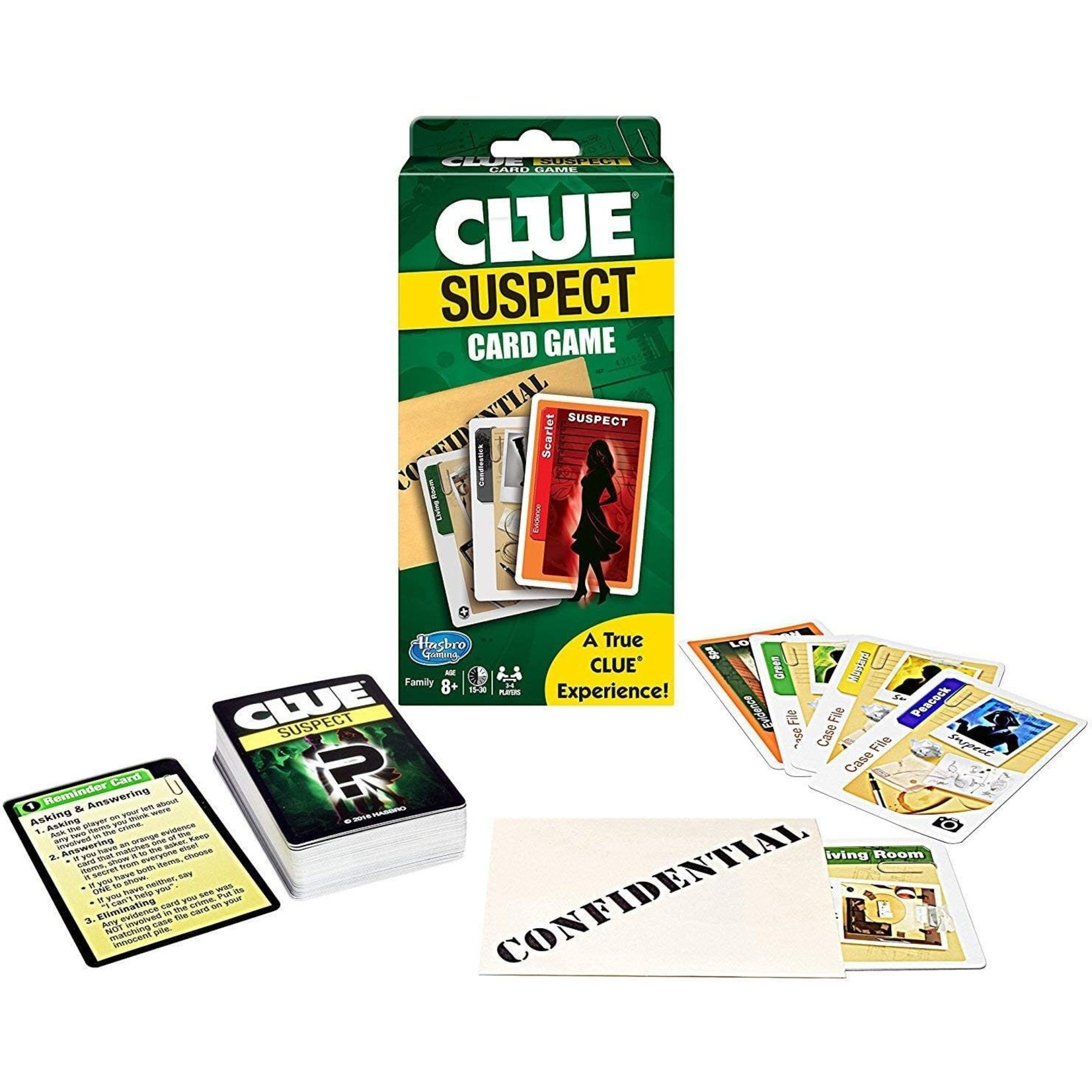 Hasbro Clue Suspect Card Game
