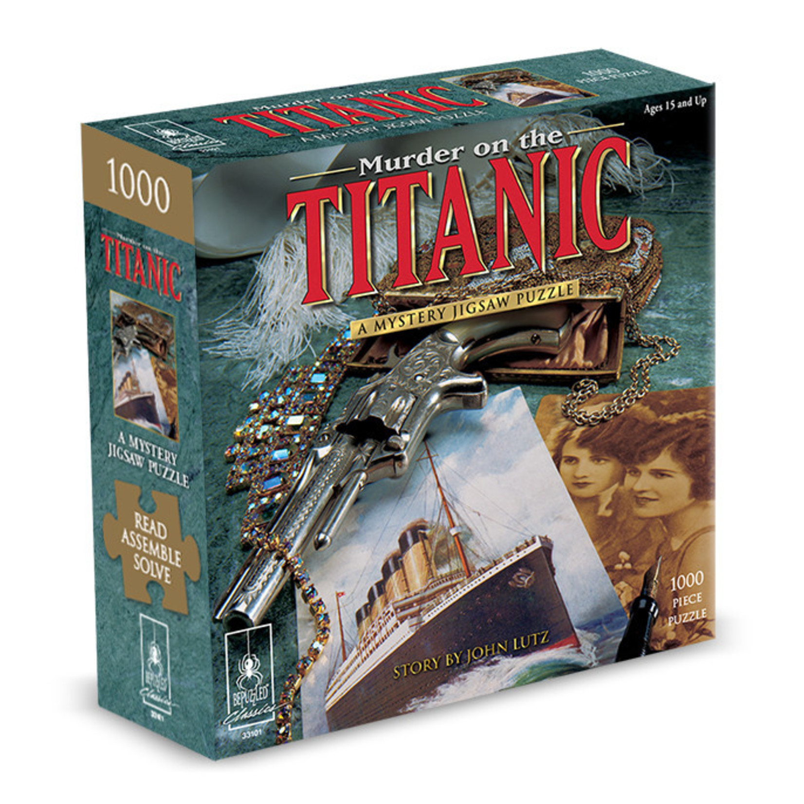 BePuzzled Murder on the Titanic: A Mystery Jigsaw Puzzle - 1000 Piece Jigsaw Puzzle