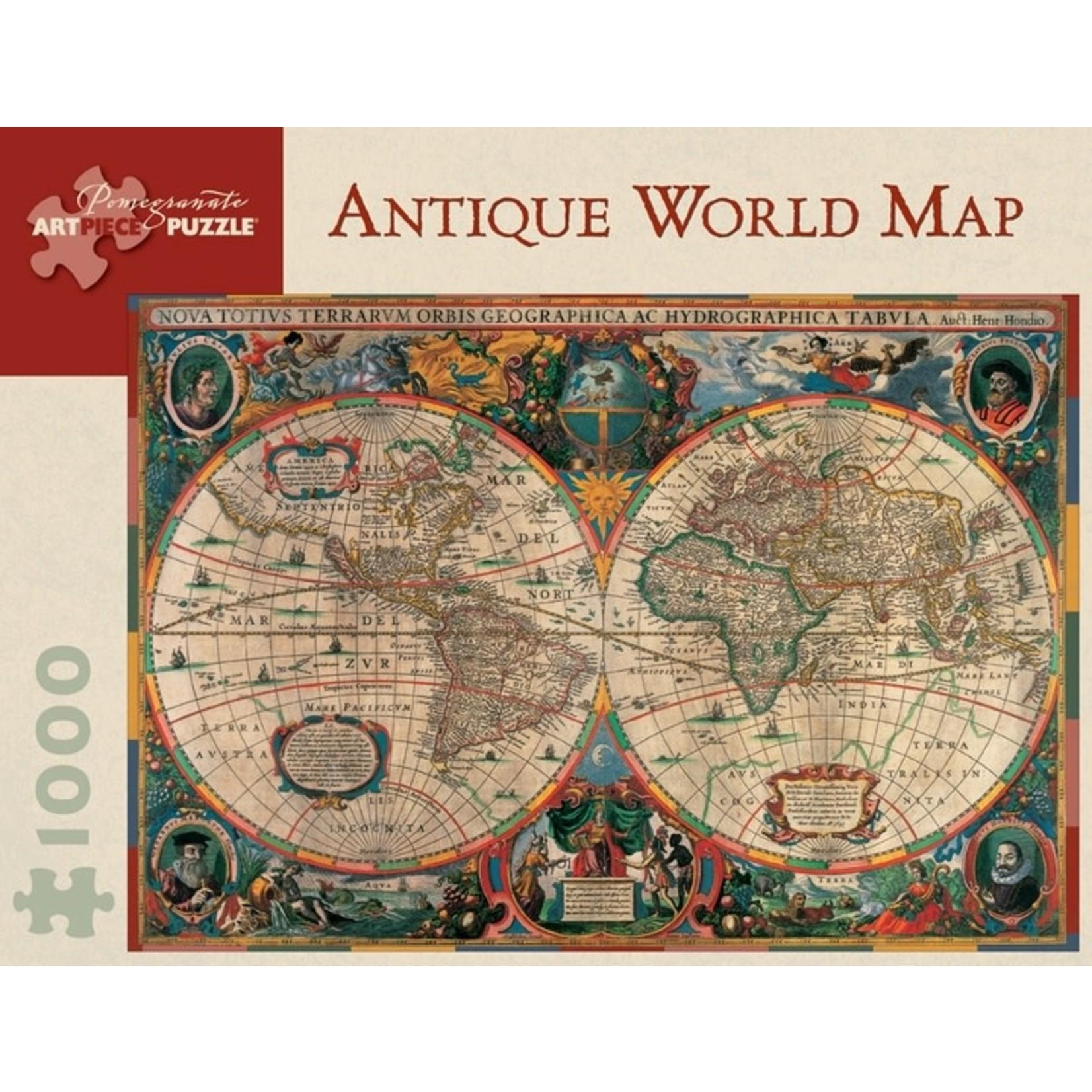 Pomegranate Antique World Map - 1000 Piece Jigsaw Puzzle