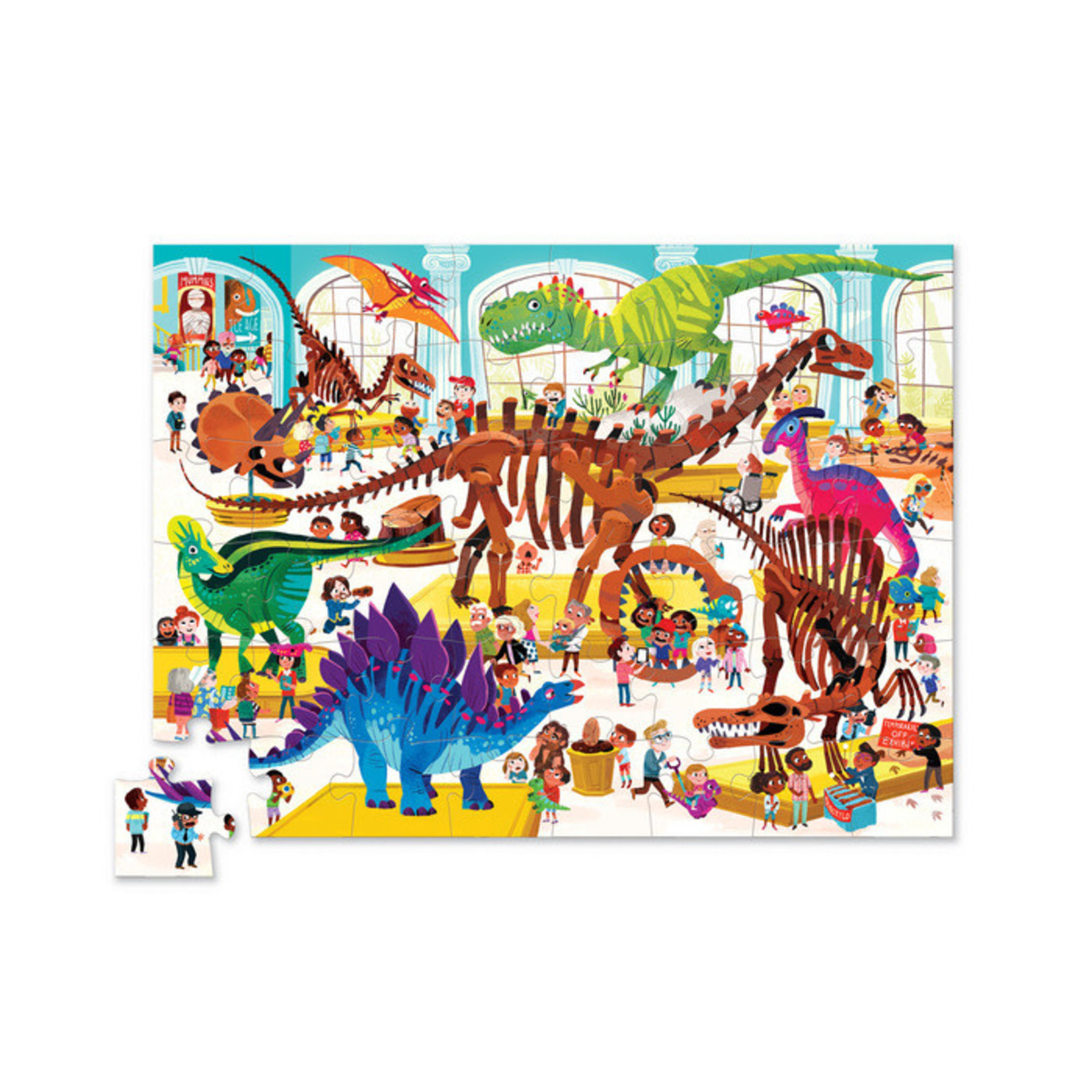 Crocodile Creek Day at the Museum Dinosaur 48-pc Puzzle