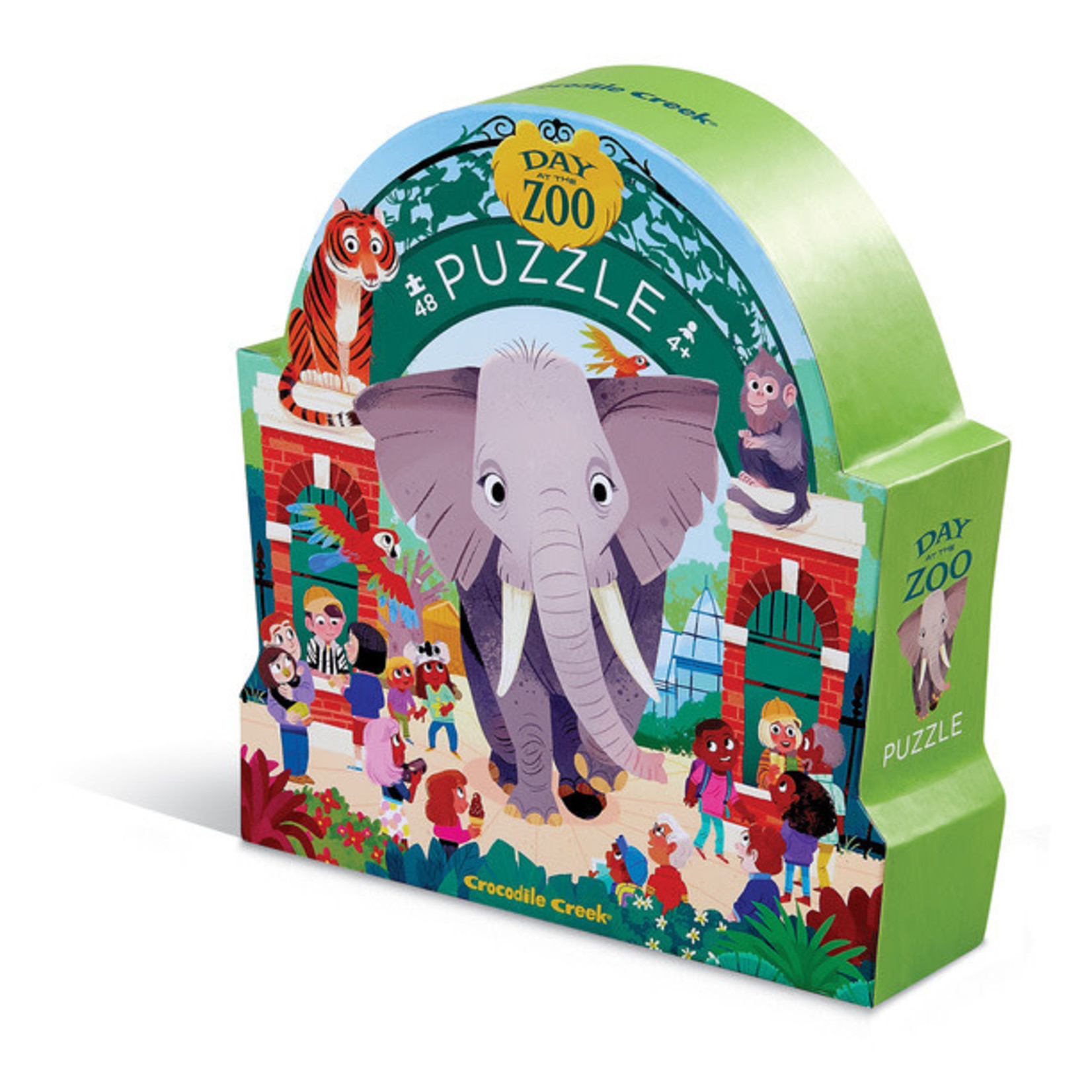 Crocodile Creek Day at the Museum Zoo 48-pc Puzzle