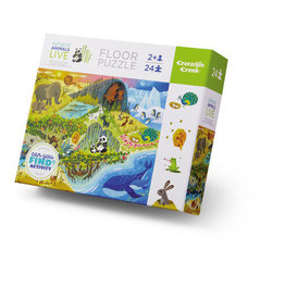 Crocodile Creek Early Learning Where Animals Live 24-pc Puzzle