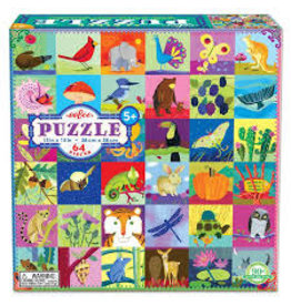 Eeboo Portraits of Nature 64 - Piece jigsaw puzzle