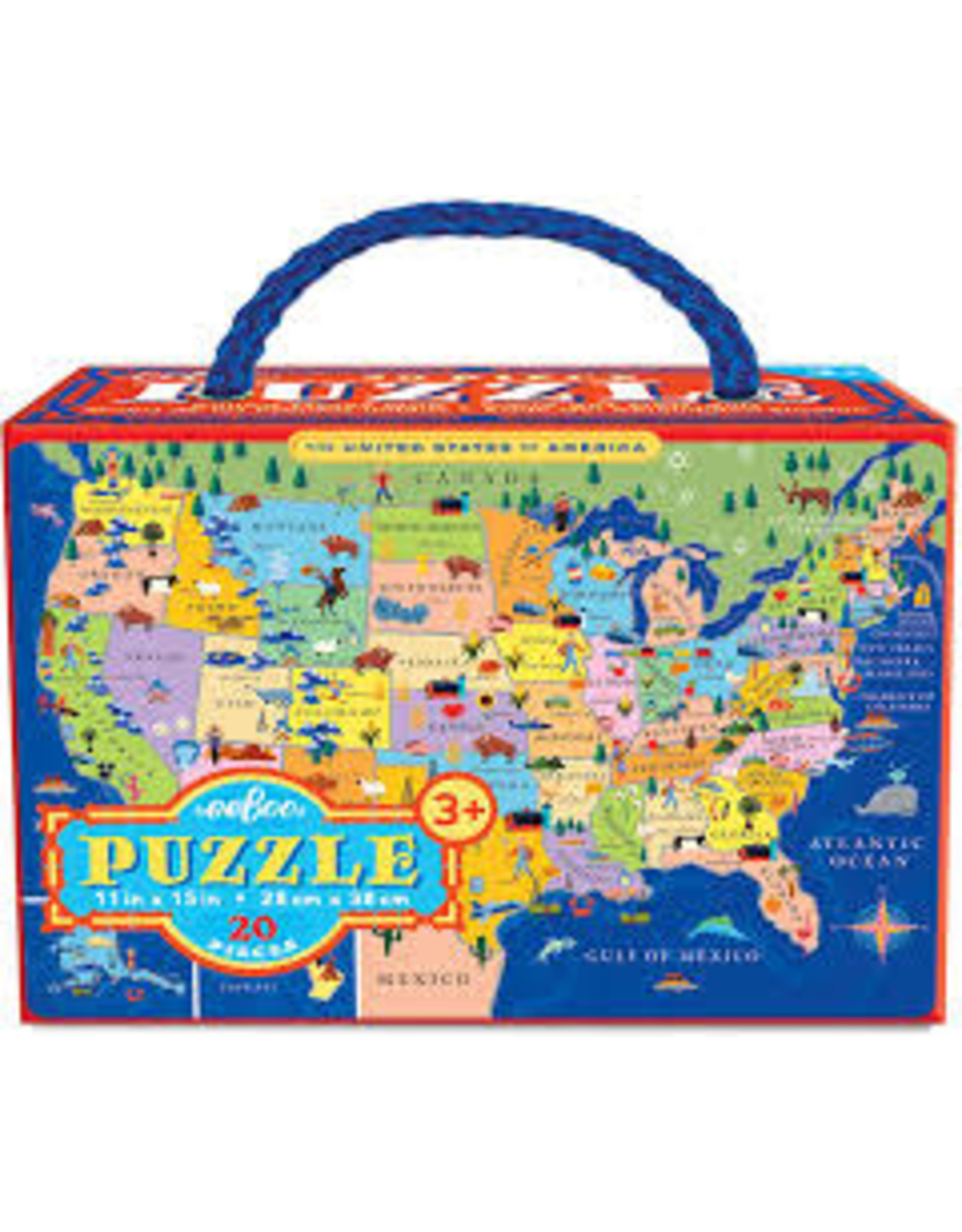 Eeboo United States 20-pc Puzzle
