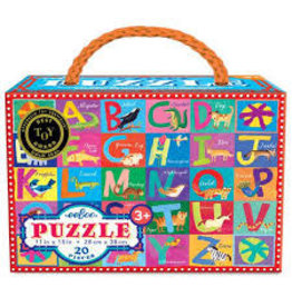 eeBoo Animal Alphabet 20-pc Puzzle