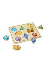 Melissa and Doug Jumbo Knob Wooden Puzzle - Large Shapes