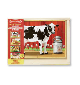 Melissa and Doug Farm Animals Jigsaw Puzzles in a Box
