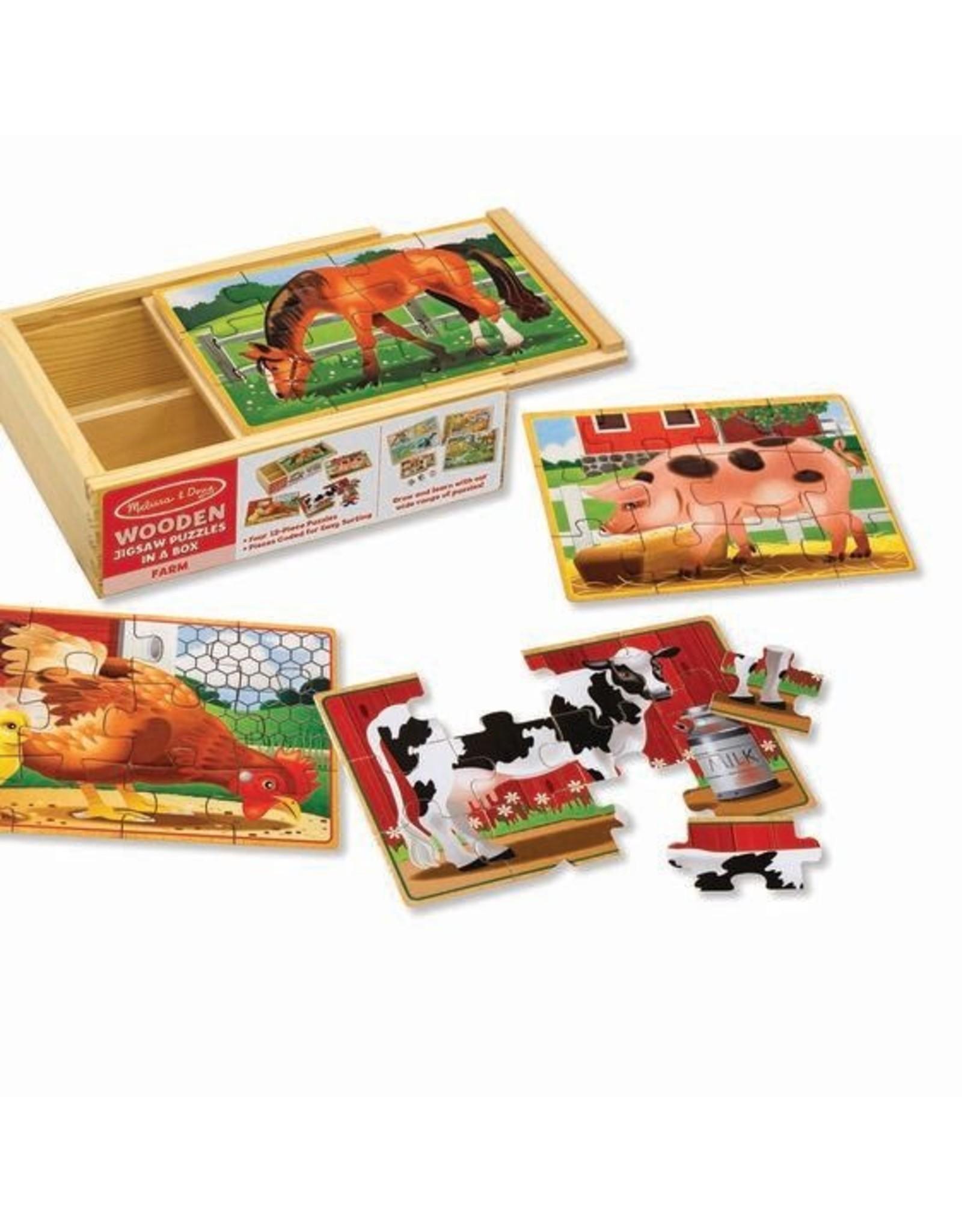 Melissa and Doug Farm Animals Jigsaw Puzzles in a Box