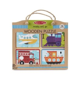 Melissa and Doug Ready, Set, Go Wooden Puzzles 16p