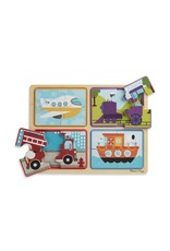 Melissa and Doug Natural Play Wooden Puzzle Ready, Set, Go (16 pieces)