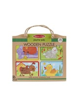 Melissa and Doug Natural Play Wooden Puzzle Playful Pals (12 pieces)
