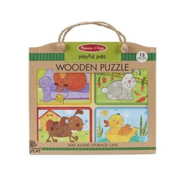 Melissa and Doug Playful Pals Wooden Puzzle 12p