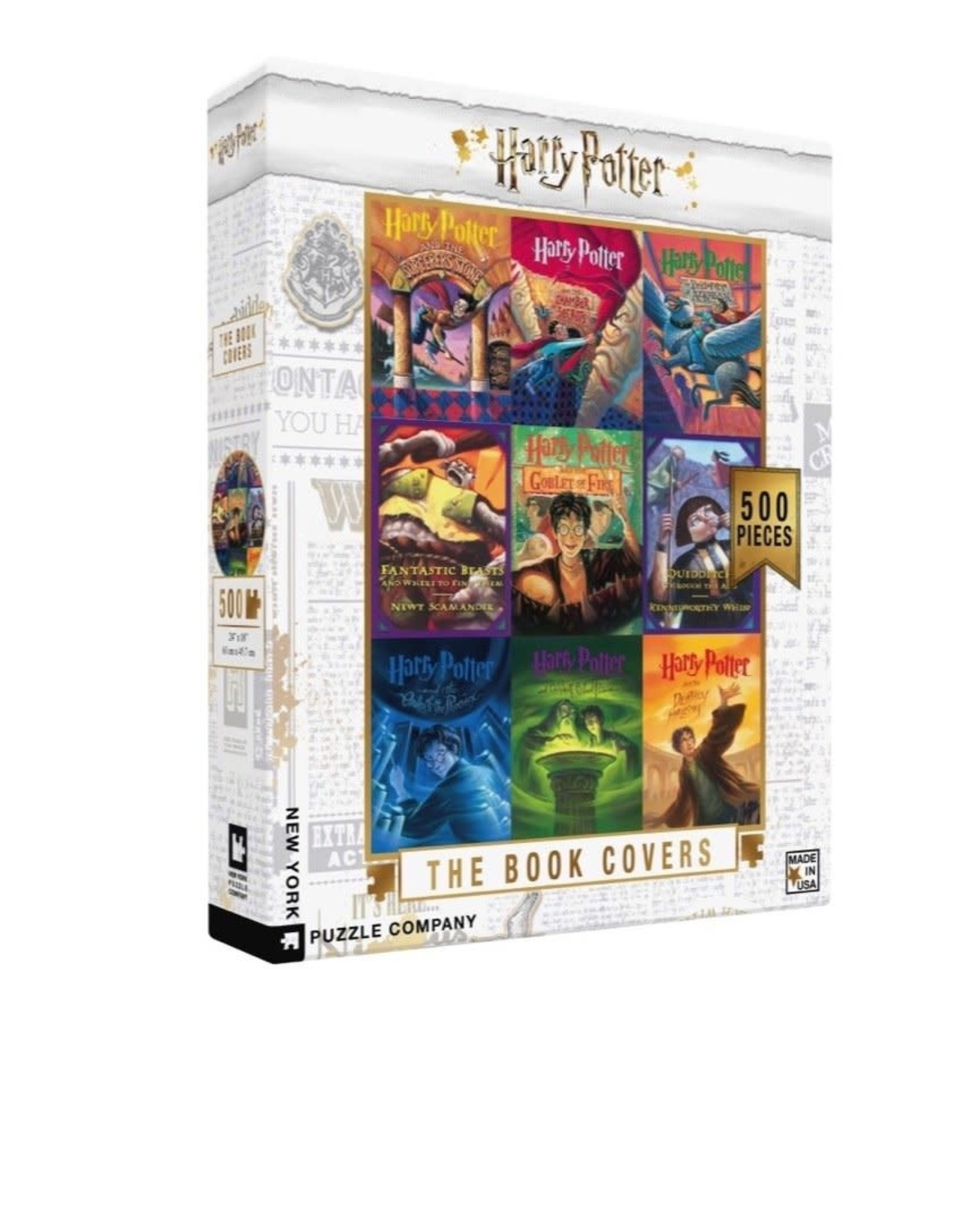 New York Puzzle Company Harry Potter Book Cover Collage 500 pieces