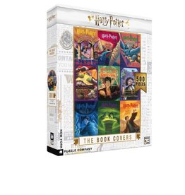 New York Puzzle Company Harry Potter Book Cover Collage 500p