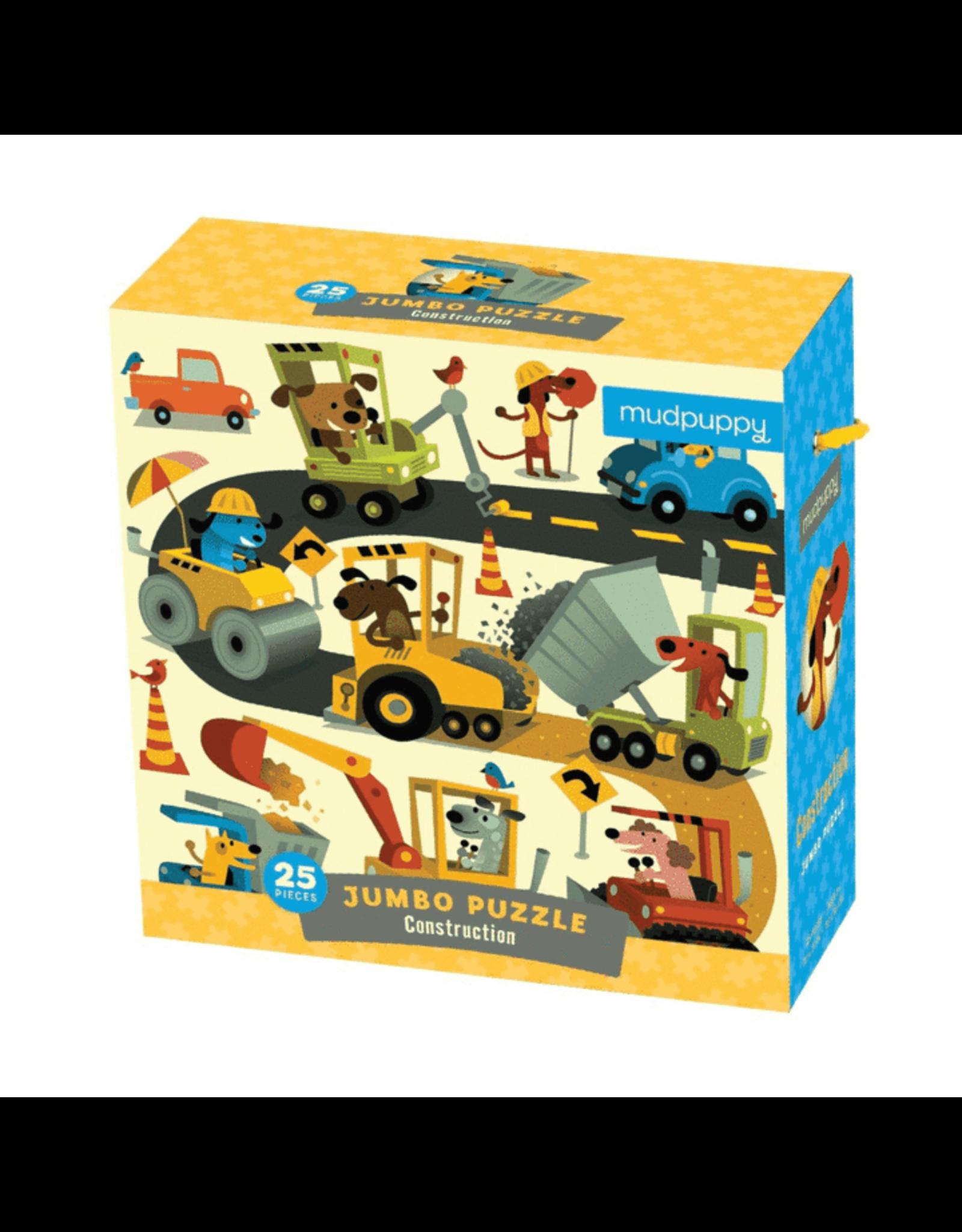 Mudpuppy Construction Jumbo Puzzle (25 pieces)