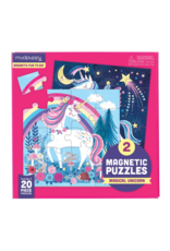 Mudpuppy Magical Unicorn Magnetic Puzzles (2x 20 pieces)