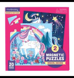 Mudpuppy Magical Unicorn Magnetic 2x20 - Piece jigsaw puzzles