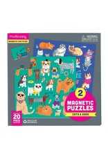Mudpuppy Cats & Dogs Magnetic Puzzles (2x 20 pieces)