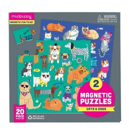 Mudpuppy Cats & Dogs Magnetic 2x20 - Piece jigsaw puzzles