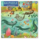 Eeboo Otters at Play Jigsaw Puzzle (64)