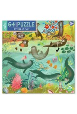Eeboo Otters at Play 64  - Piece jigsaw puzzle