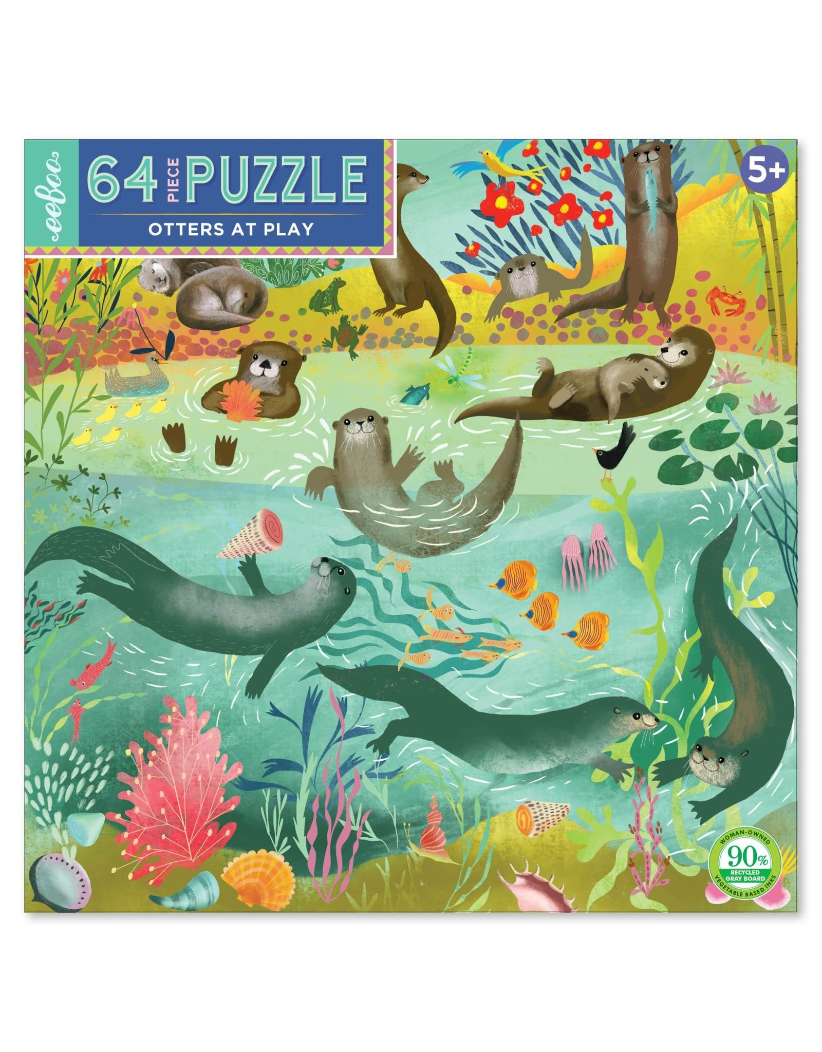eeBoo Otters at Play (64 pieces)