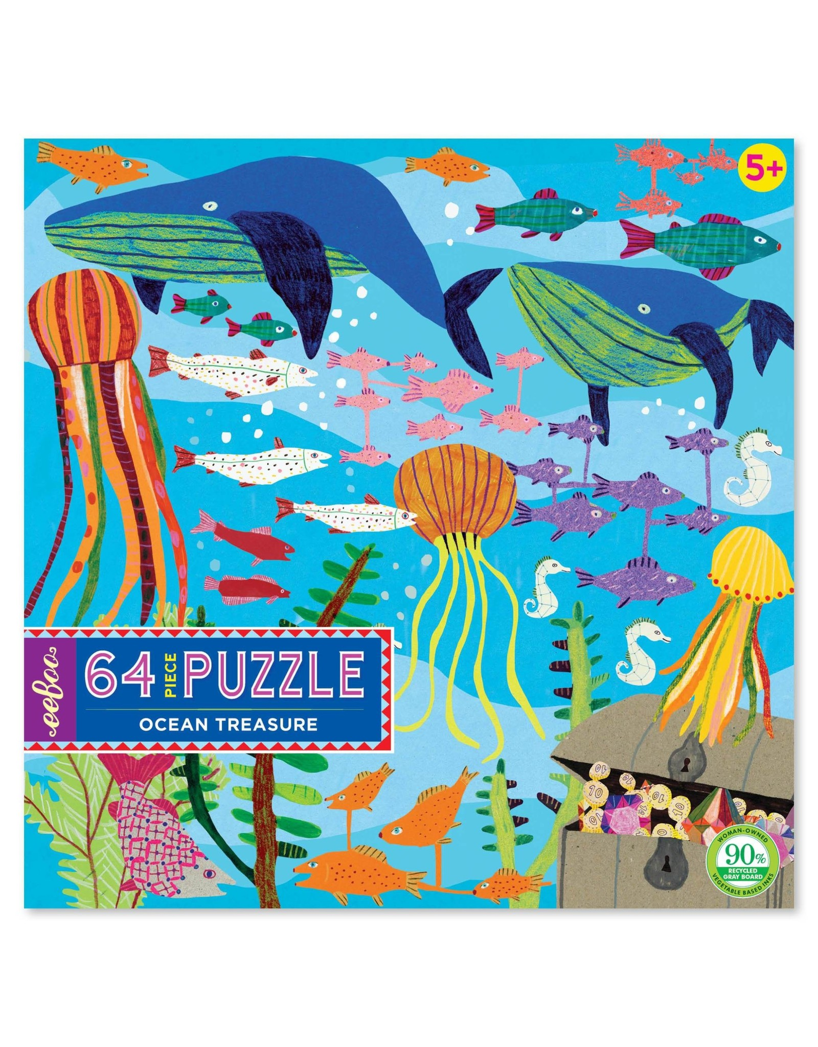 eeBoo Ocean Treasures (64 pieces)