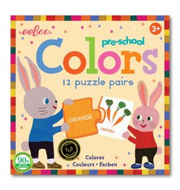eeBoo Puzzle Pairs Preschool Colors