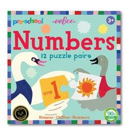 Eeboo Puzzle Pairs Preschool Numbers