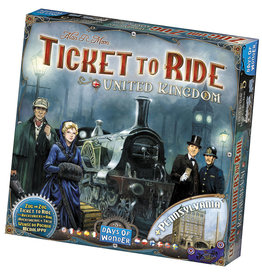 Days of Wonder Ticket to Ride: United Kingdom and Pennsylvania Map