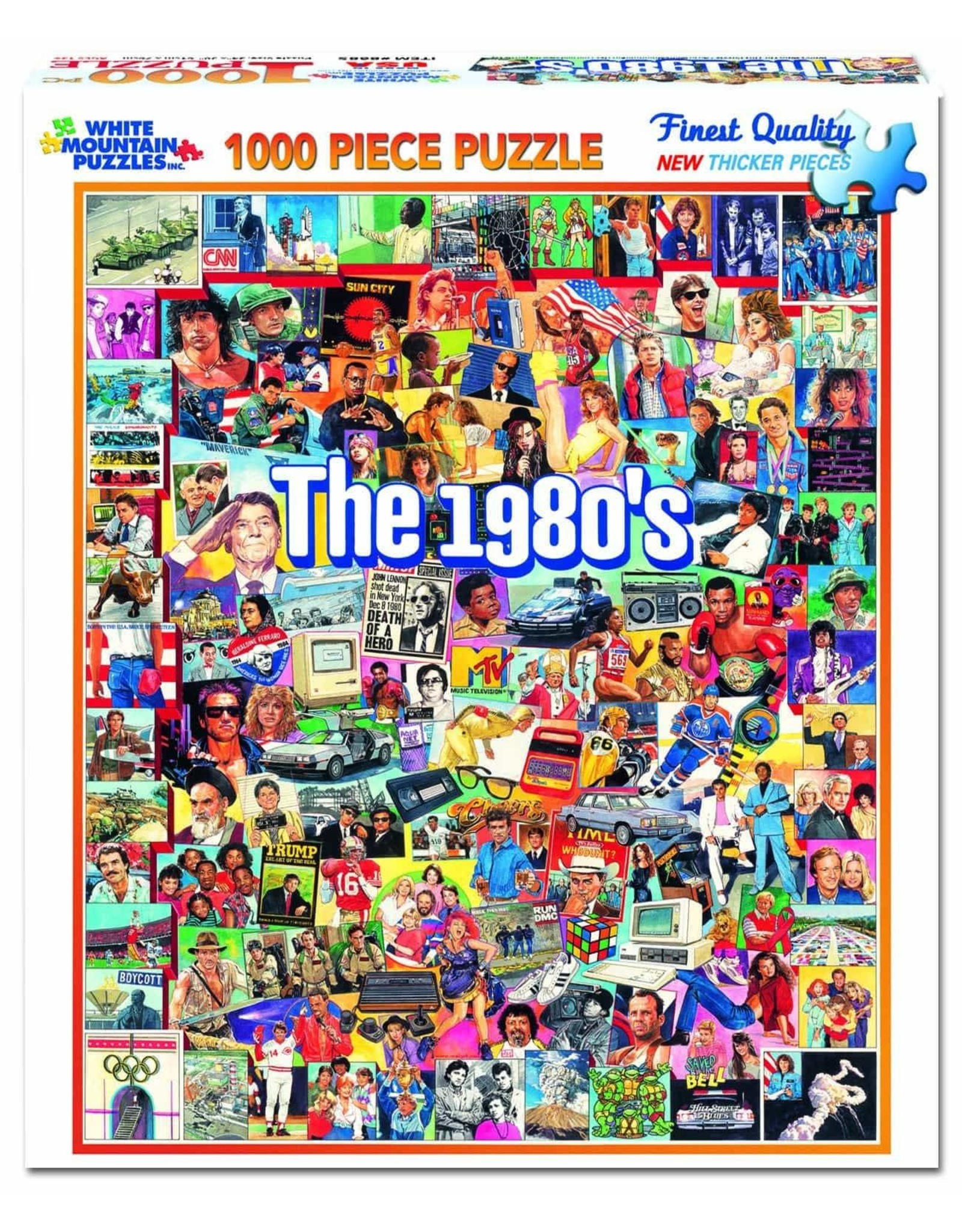 White Mountain Puzzles The Eighties 1000-piece Jigsaw Puzzle