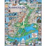 White Mountain Puzzles Washington, DC by Dana Gaines - 1000 Piece Jigsaw Puzzle