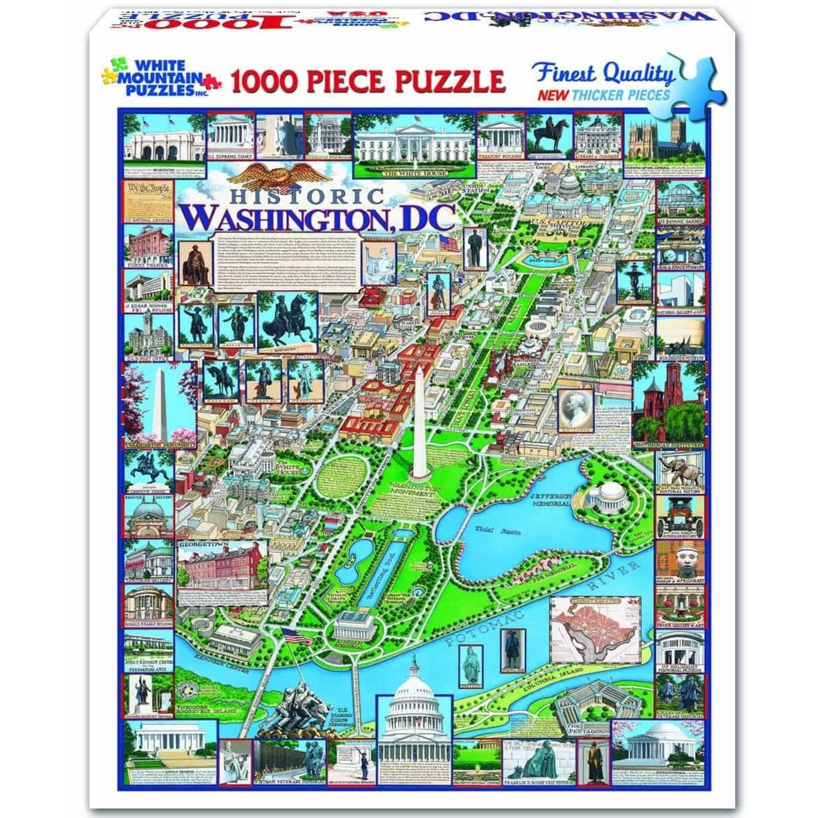 White Mountain Puzzles Washington, DC - 1000 Piece Jigsaw Puzzle