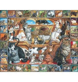 White Mountain Puzzles World of Cats 1000p (slightly damaged lid)
