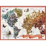Galison Wendy Gold Butterfly Migration - 1000 Piece Jigsaw Puzzle