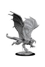 WizKids D&DMinis (unpainted): Young Black Dragon Wave 8, 73682