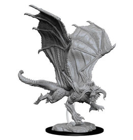WizKids D&DMinis (unpainted): Young Black Dragon Wave 8, 73682