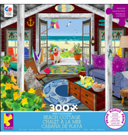 Ceaco Tracy Flickinger: Beach Cottage 300 - Piece jigsaw puzzle