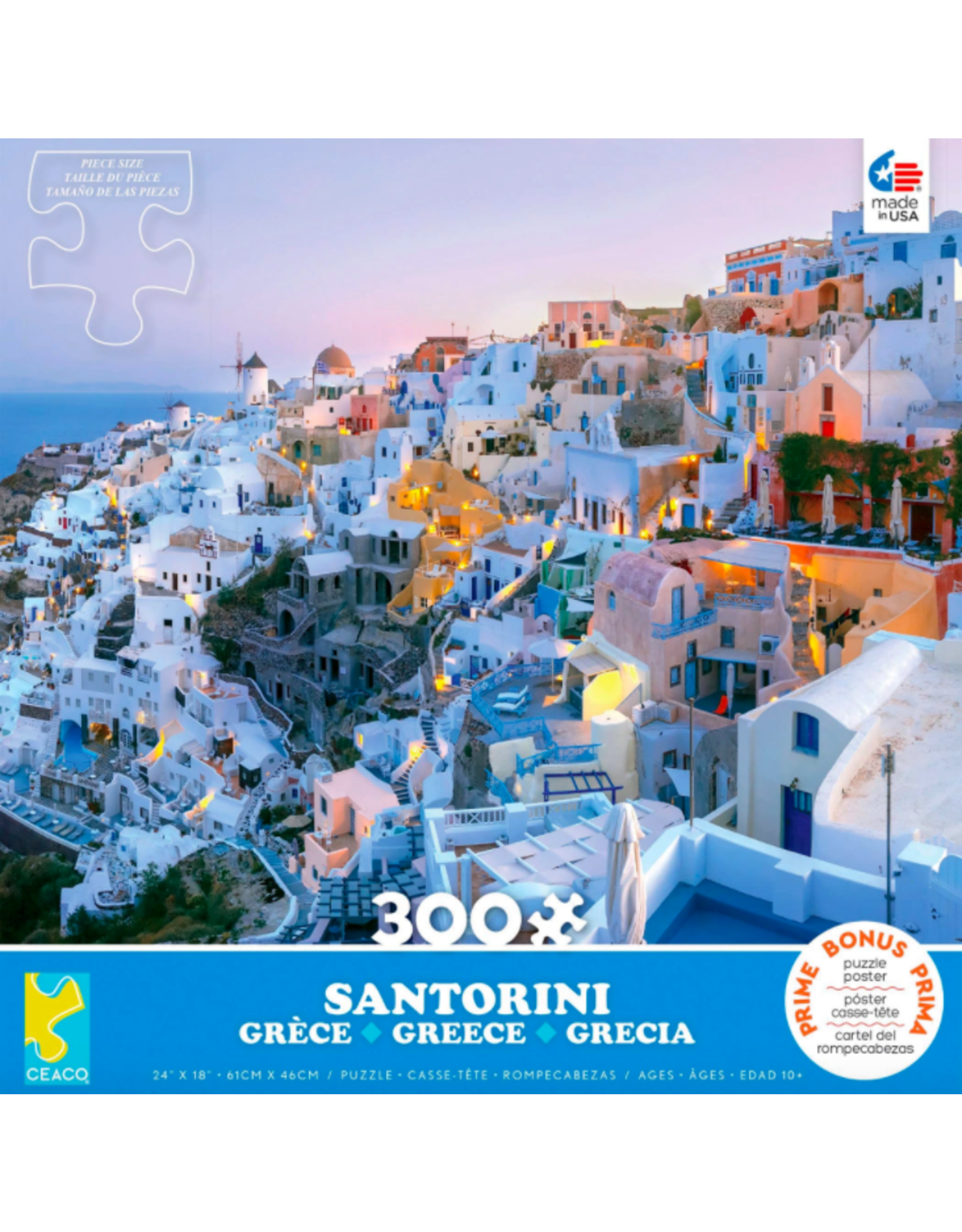 Ceaco Scenic Photography: Santorini 300 pieces