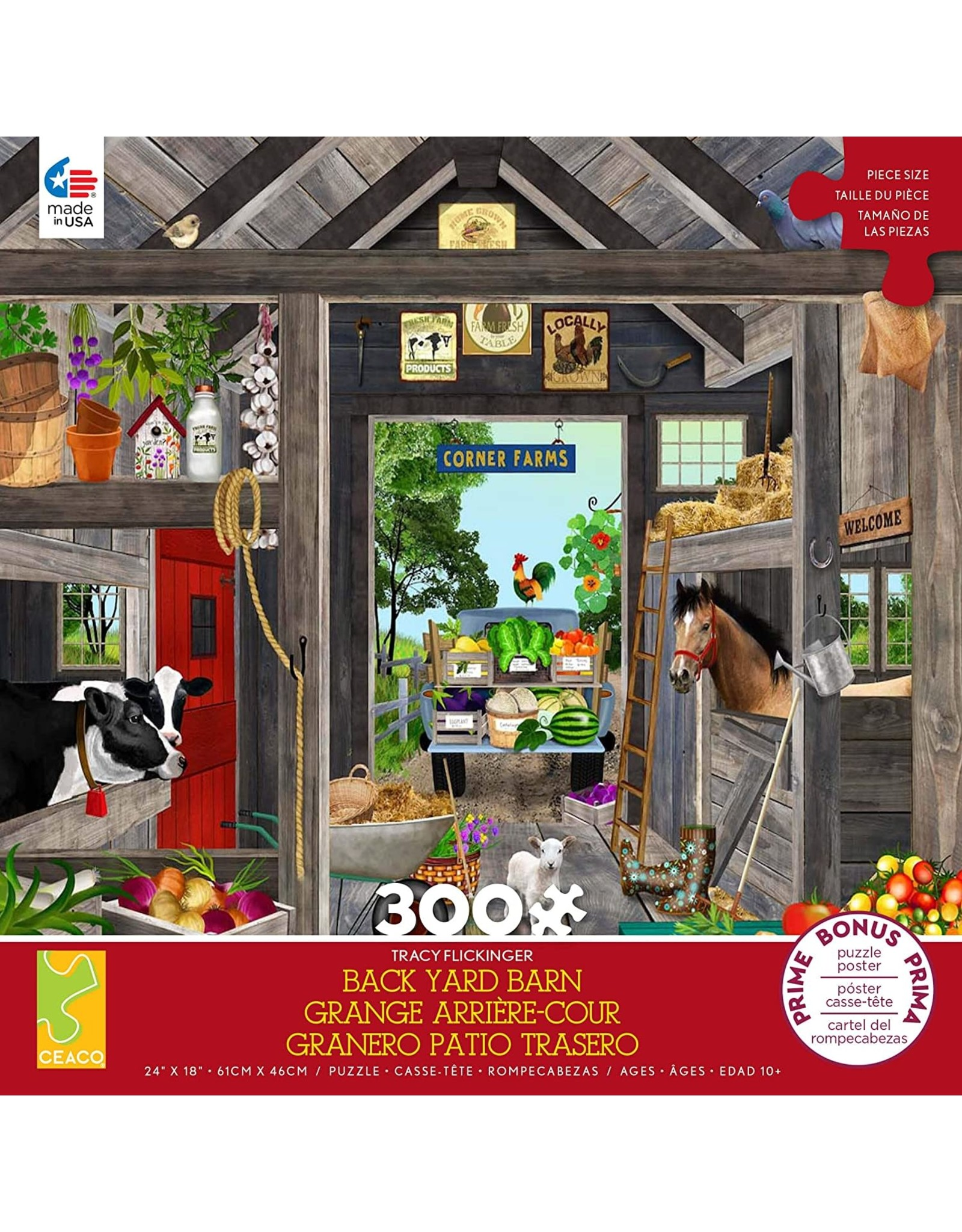 Ceaco Tracy Flickinger: The Barn 300 pieces