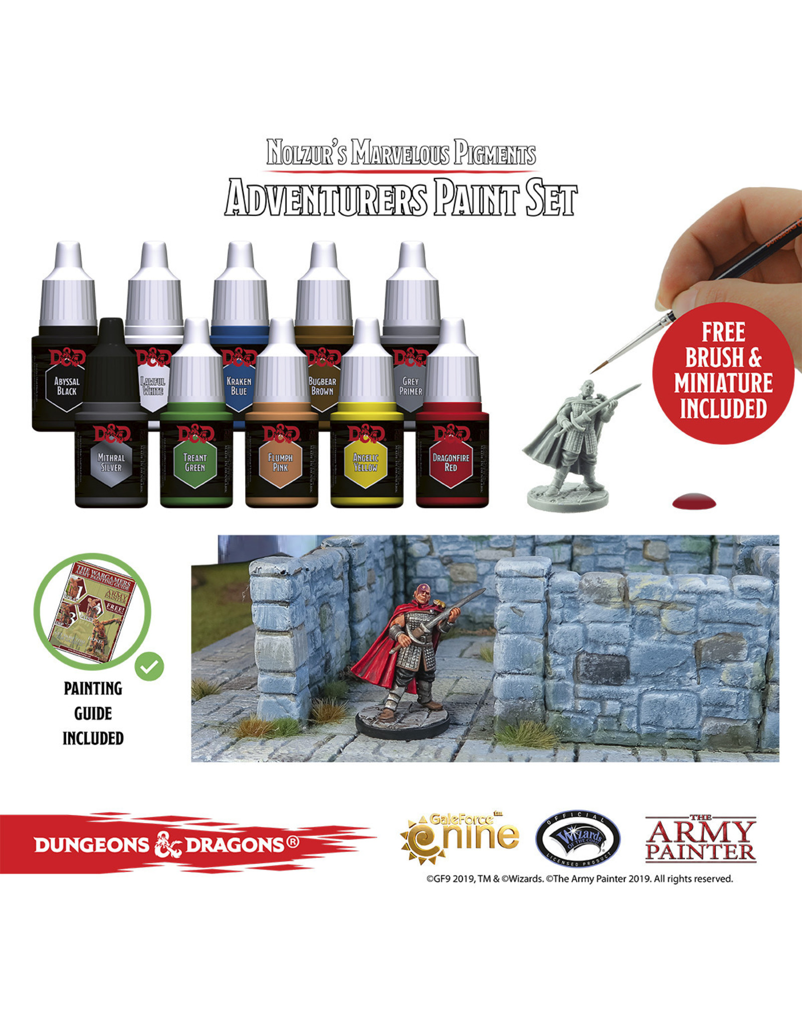 The Army Painter D&D Nolzur's Marvelous Pigments Adventurers Paint Set