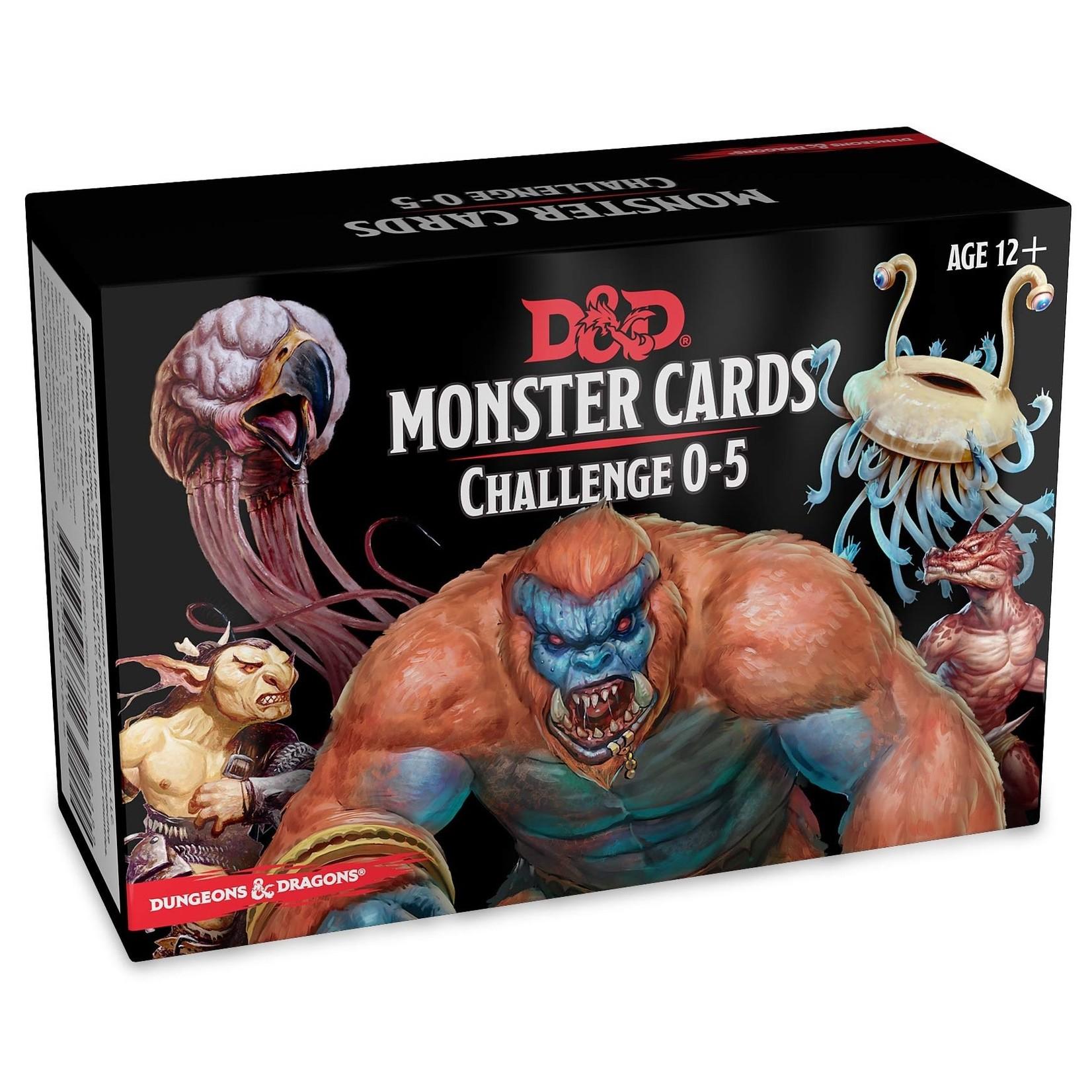Gale Force Nine D&D 5e Monster Cards CR 0-5