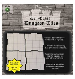 Role 4 Initiative Dungeon Tiles: White 5""
