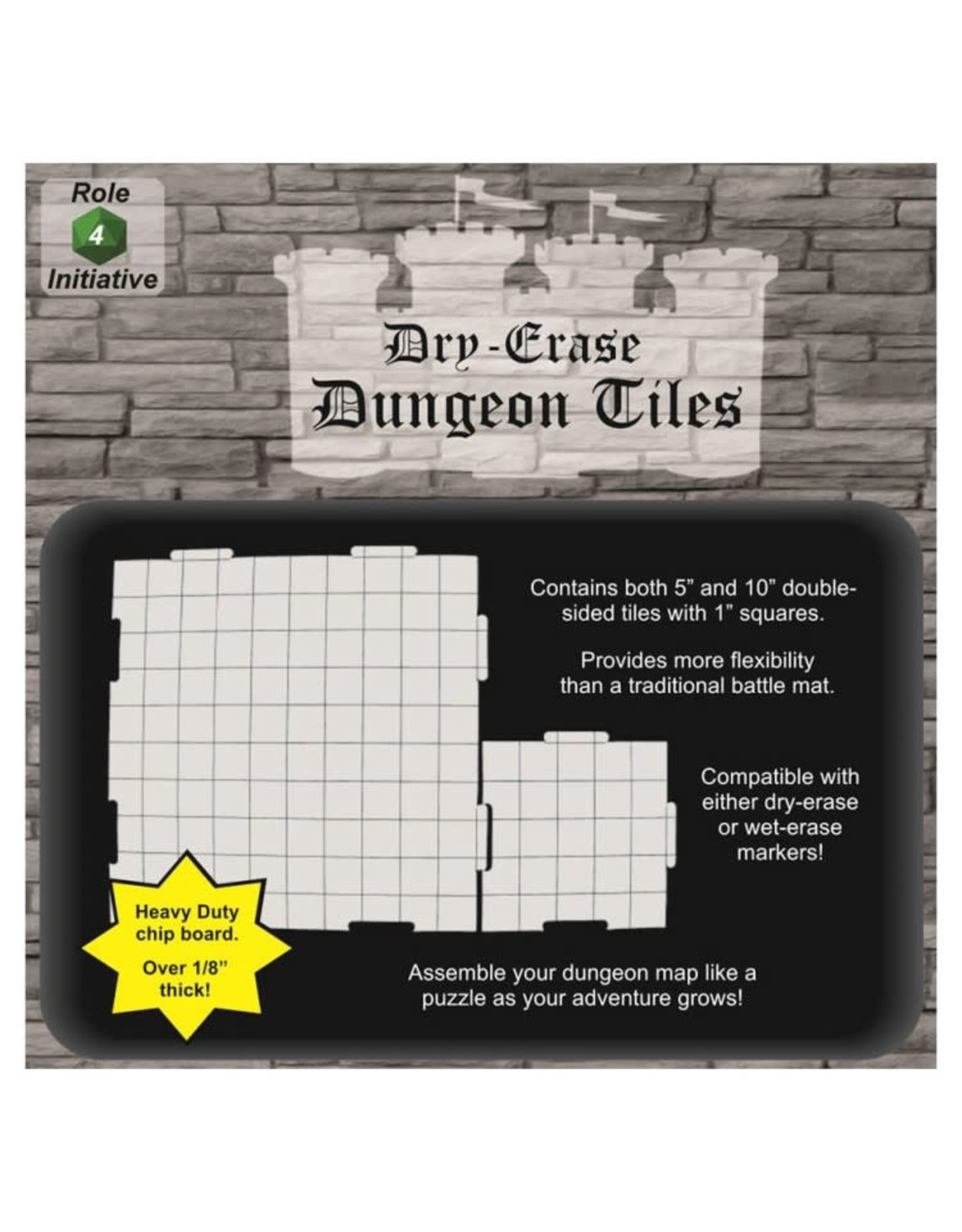 Role 4 Initiative Dungeon Tiles: White 10 Inch & 5 Inch