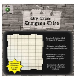 Role 4 Initiative Dungeon Tiles: White 10""