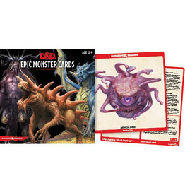 Dungeons & Dragons D&D 5E Monster Cards Epic Monsters