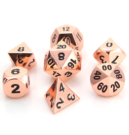 Die Hard Dice DHD: 7-Set Classic Shiny Copper