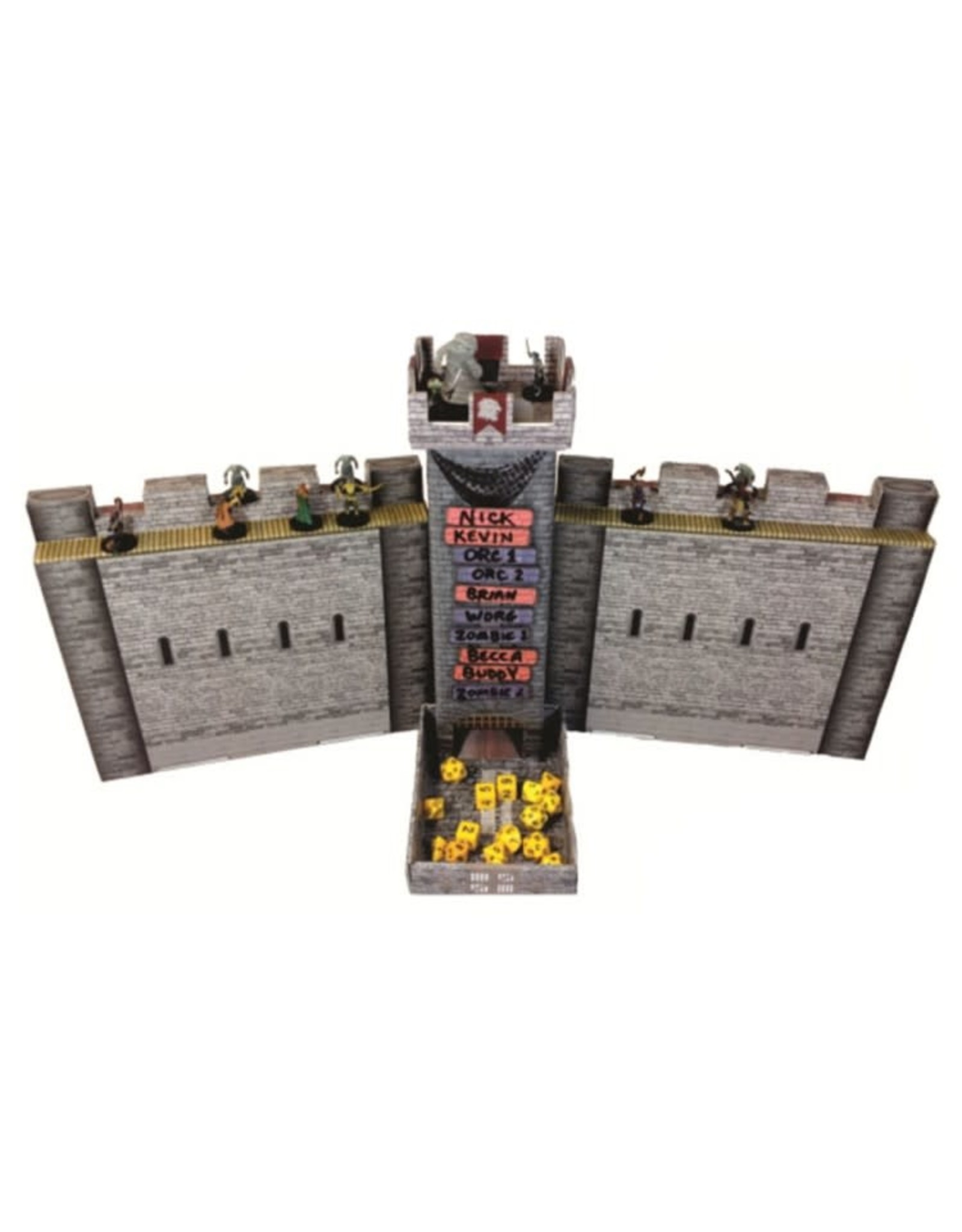 Role 4 Initiative Castle Keep Dice Tower and Dungeon Master Screen